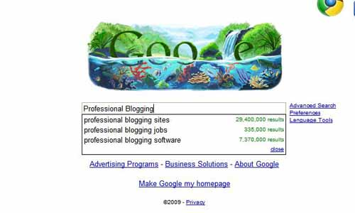 Google.com SEO tools aid professional blogging sites